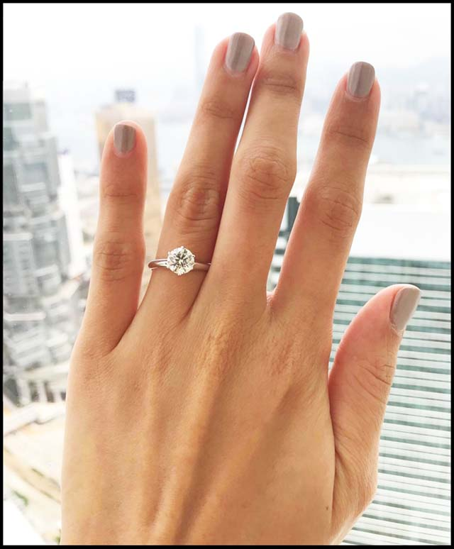 Brian Gavin, AGS #104090535077, Tanya's engagement ring