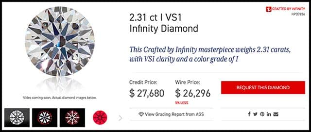 Two carat diamond ring, Crafted by Infinity review, HPD7856