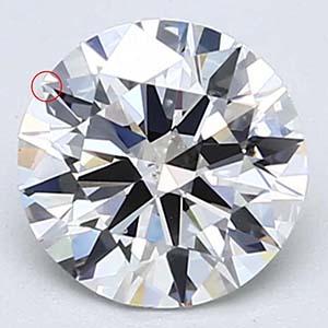 Blue Nile Very Good cut diamond.