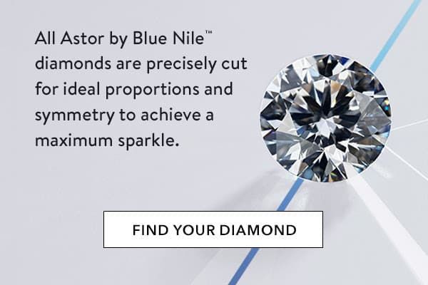 Astor by Blue Nile diamonds, precisely cut ideal proportions