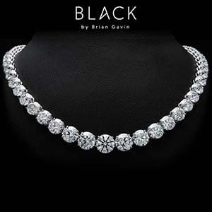 Black by Brian Gavin Sirisha diamond necklace