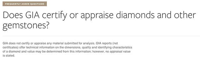 GIA Certified diamonds FAQ