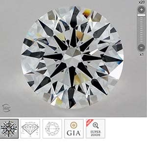 James Allen Big Diamond Rings review, SKU 2212545, GIA 2175944539