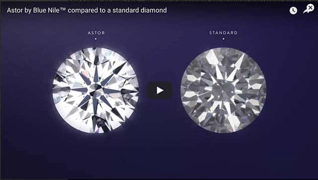 Video comparison Astor by Blue Nile vs generic round brilliant cut diamond