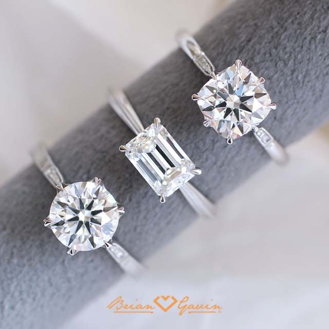 Brian Gavin Signature diamonds set in Erika Winters fine jewelry, Grace, Laurel, Margot in platinum, reviews.