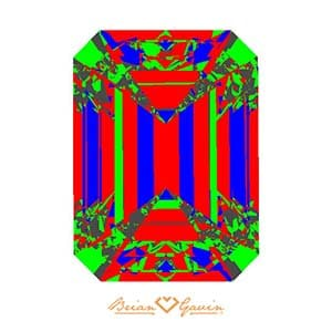 Brian Gavin Signature Emerald cut diamond ASET AGSL 104096347002