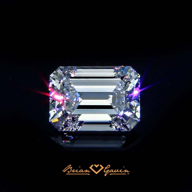 Brian Gavin Signature Emerald cut diamond, brilyens brilliance like no other