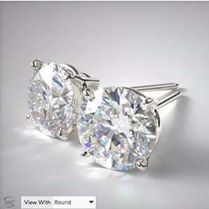 How to Build Diamond Stud Earrings on James Allen.