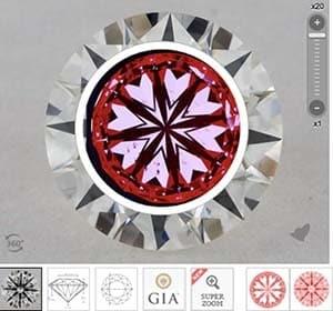 James Allen True Hearts diamond reviews, SKU 2485816