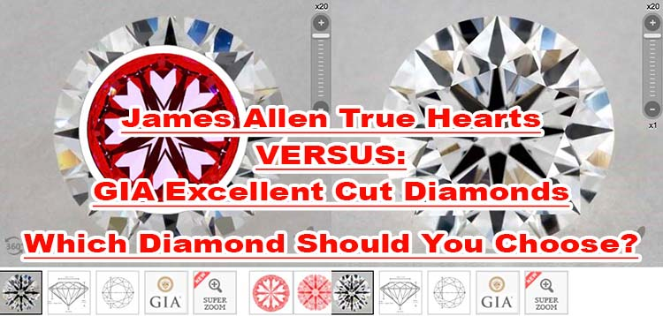 James Allen True Hearts versus GIA Excellent cut diamonds, GIA 2175891613 vs 1182742562