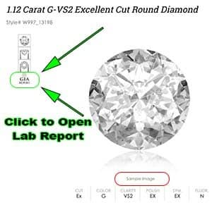 Allurez diamond search review GIA Excellent cut diamonds.