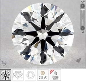 James Allen True Hearts vs GIA Excellent cut diamonds, SKU 4395875, GIA 5273956837