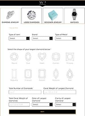 Sell engagement rings, diamonds, jewelry, fast for cash to WP Diamonds