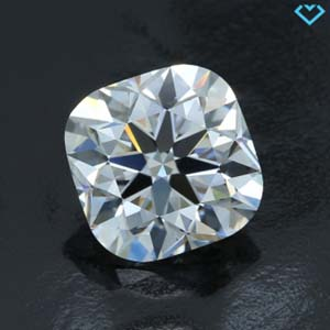 Brian Gavin Signature Blue fluorescent cushion cut diamond, AGS 104096927006