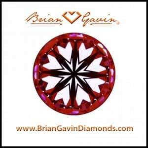 Black by Brian Gavin Hearts and Arrows diamond, AGS #104101164014