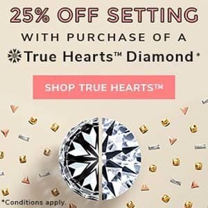 James Allen True Hearts Diamond promotion 2018, coupons, discounts, promotions, specials.