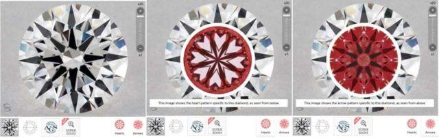 James Allen True Hearts diamond prices, SKU 6406682 image comparison