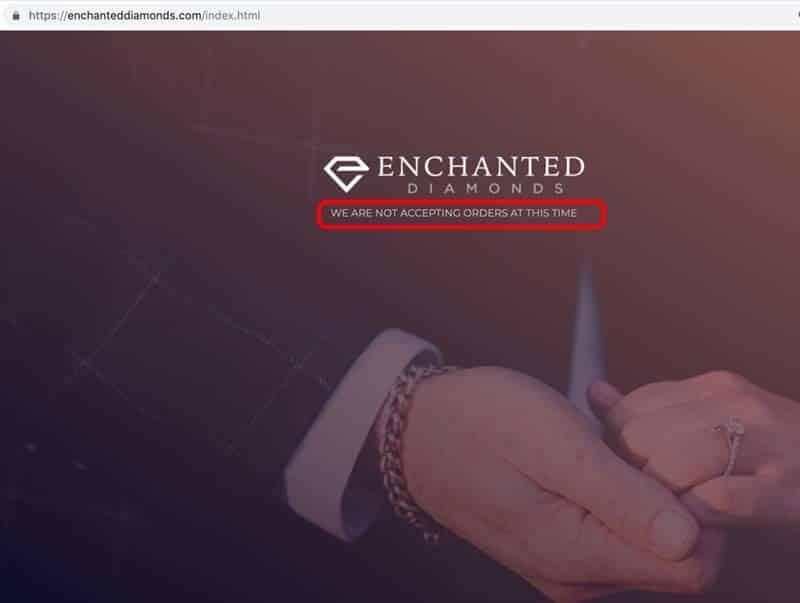 Enchanted Diamonds Goes Dark