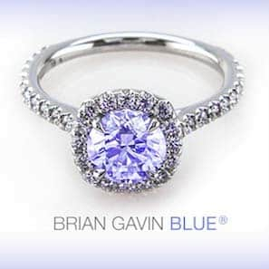 Brian Gavin. Blue Florescent Diamond
