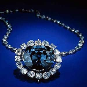 Hope Diamond, courtesy Smithsonian.