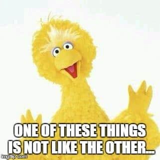 Big Bird meme.