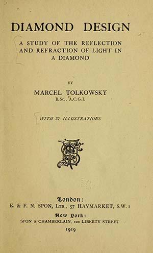 Diamond Design Marcel Tolkowsky