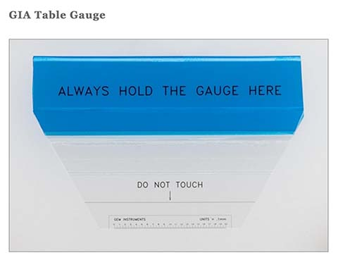 GIA Table Gauge.