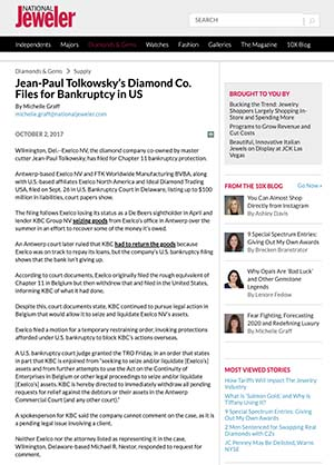 Jean-Paul Tolkowsky Bankruptcy.