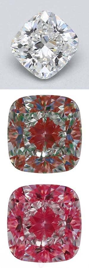 Cushion Modified Cut Diamond.