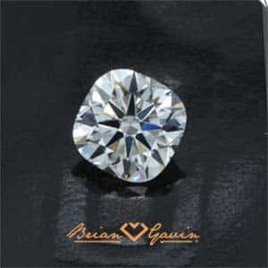 Black by Brian Gavin Cushion cut diamond.