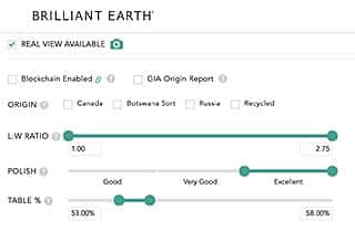 Advanced Filters Brilliant Earth