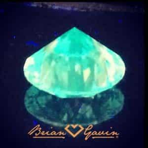 Lime Green Diamond Fluorescence