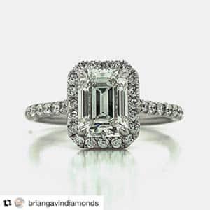 Emerald Diamond Halo Setting Brian Gavin