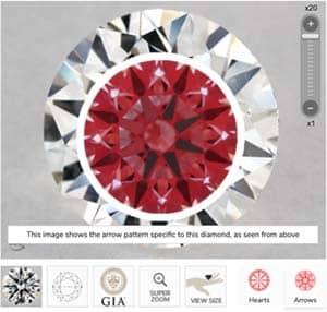 1 carat diamond ring James Allen True Hearts