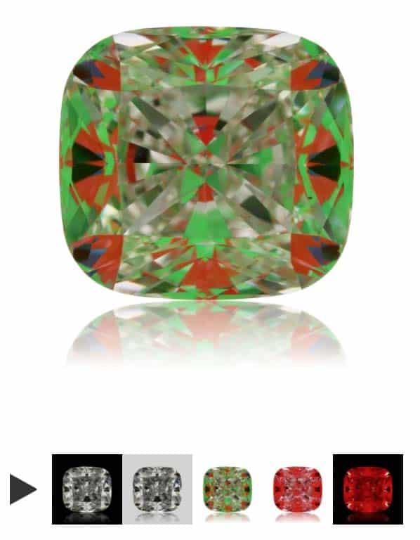 ASET Scope James Allen Cushion Cut Diamond