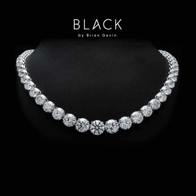 Sirisha Necklace made with Black by Brian Gavin Diamonds.