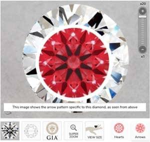 James Allen True Hearts 1 carat diamond ring