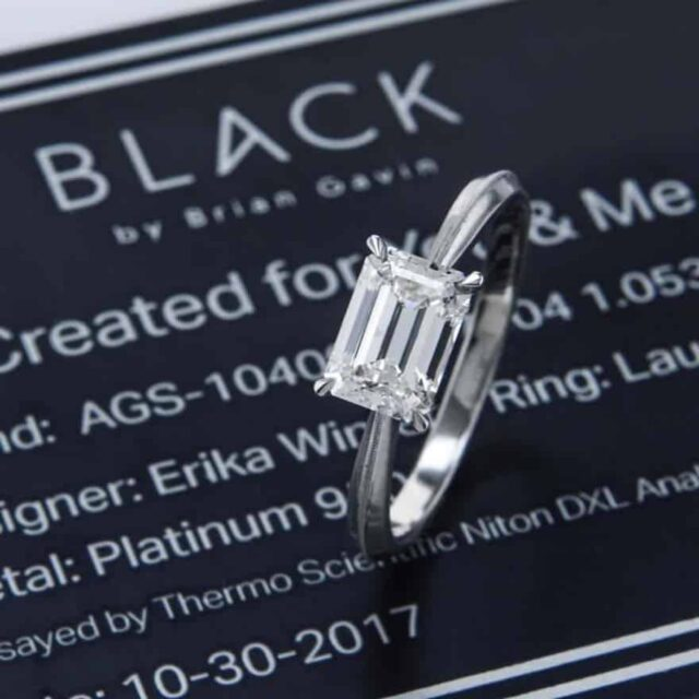 Black by Brian Gavin Solitaire Diamond Engagement Ring