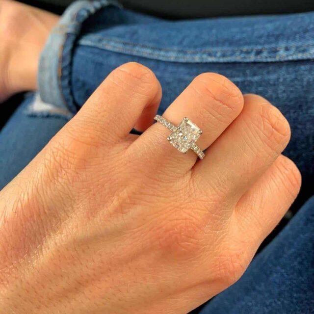Blue Nile Radiant Cut Engagement Ring