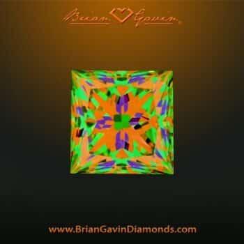 Brian Gavin Princess Diamond 2-chevron facets