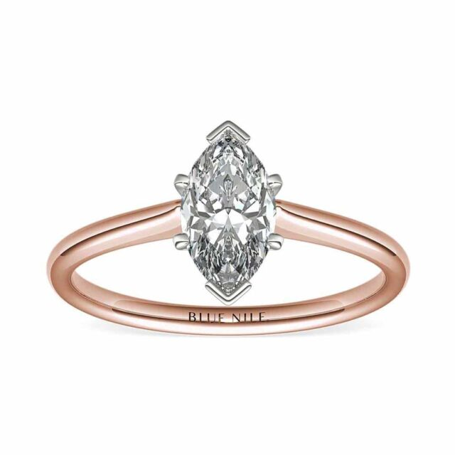 Blue Nile Petite Solitaire Engagement Ring.
