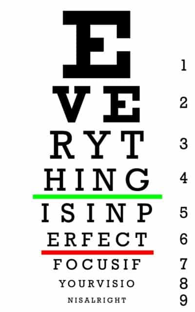 Perfect Focus Eye Sight Chart