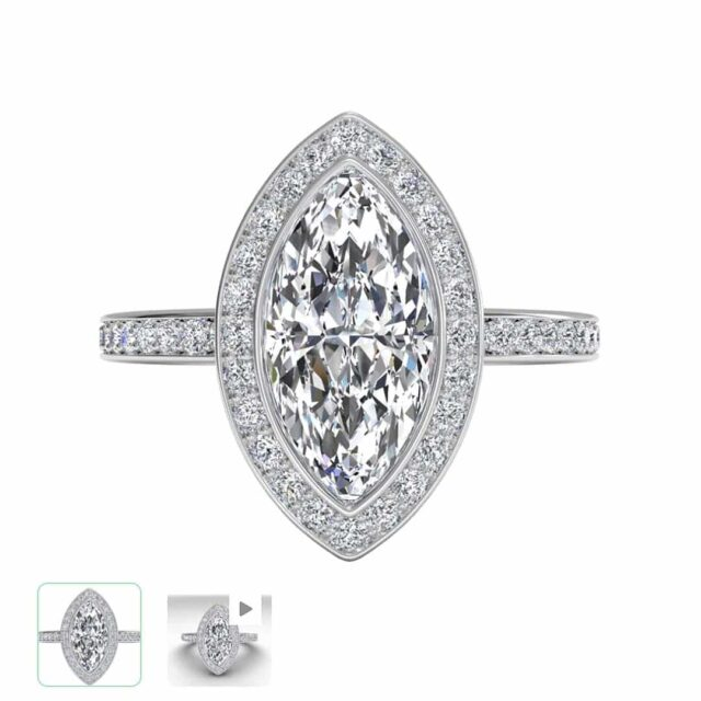 Vintage Inspired Halo Setting by Ritani.