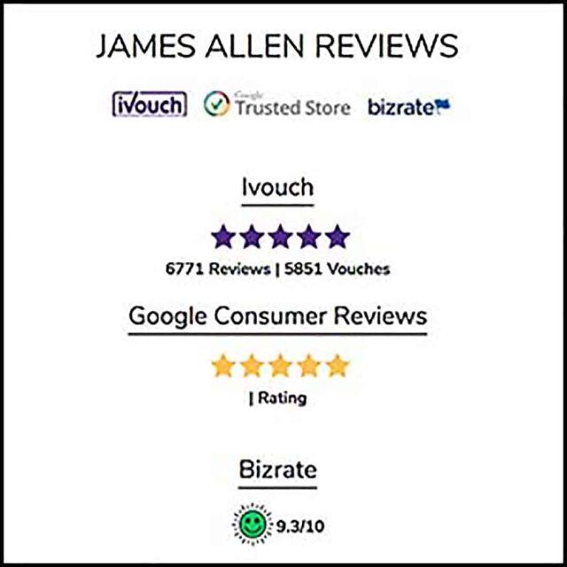 James Allen Reviews iVouch, Google, BizRate.