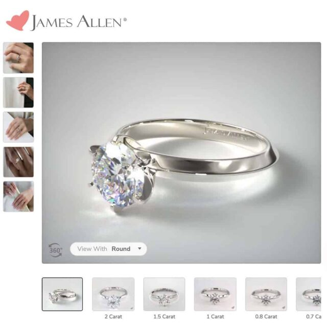 Presentation Solitaire Engagement Ring.