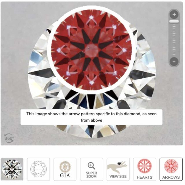 Ideal Scope Image for True Hearts Diamond.