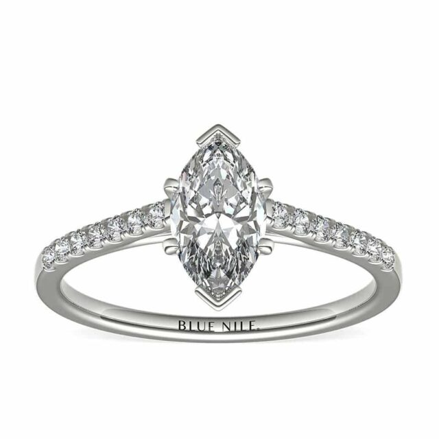 Petite Cathedral Pave Setting by Blue Nile