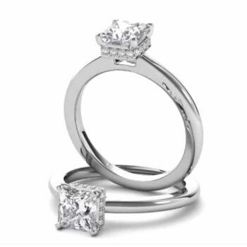 Ritani Diamond Gallery Princess Solitaire.
