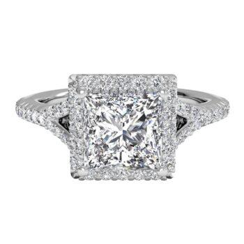 Ritani French Halo Engagement Ring.