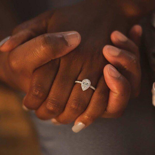 Pear shape diamond ring, SKU 17306W14